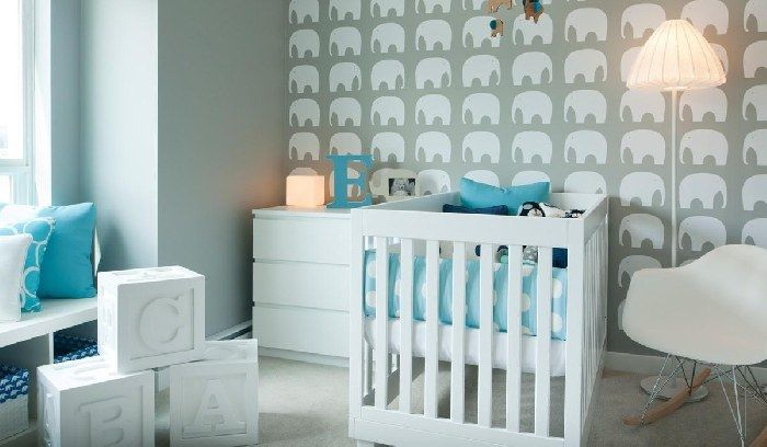 Elephant Nursery Wallpaper