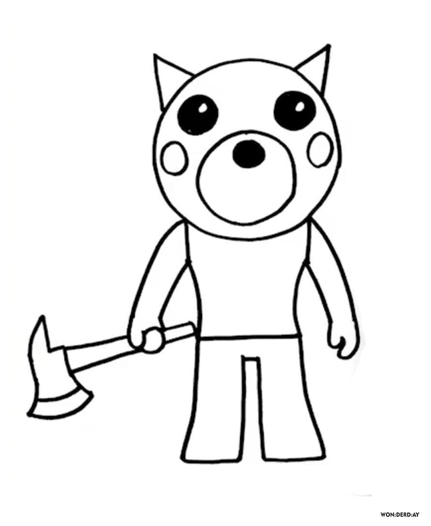 Coloring Pages Roblox Piggy Adopt Me And Others Print For Free Coloring Pages Roblox Cool Coloring Pages