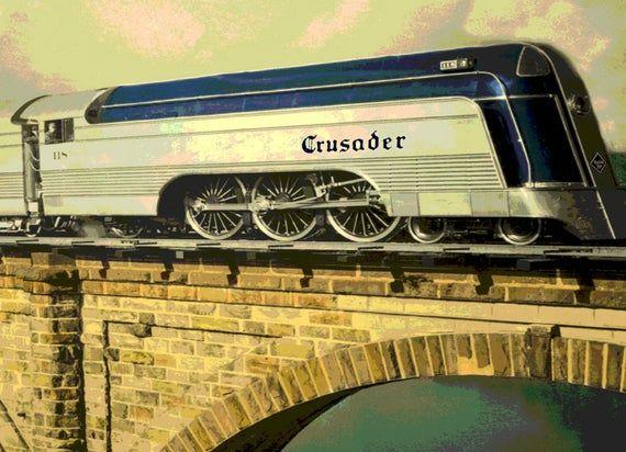 PLAINFIELD New Jersey Reading Line Railroad CRUSADER Train Poster Art Print 070