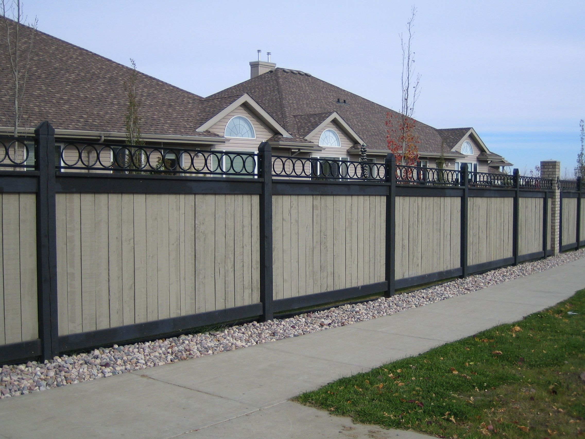 fence topper design fence pinterest