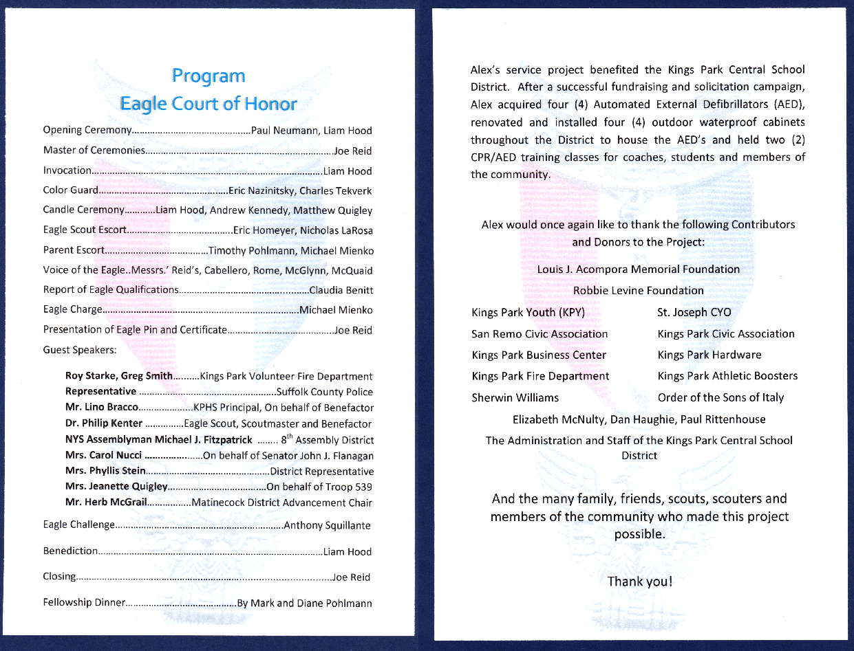 Eagle Scout Court Of Honor Ideas