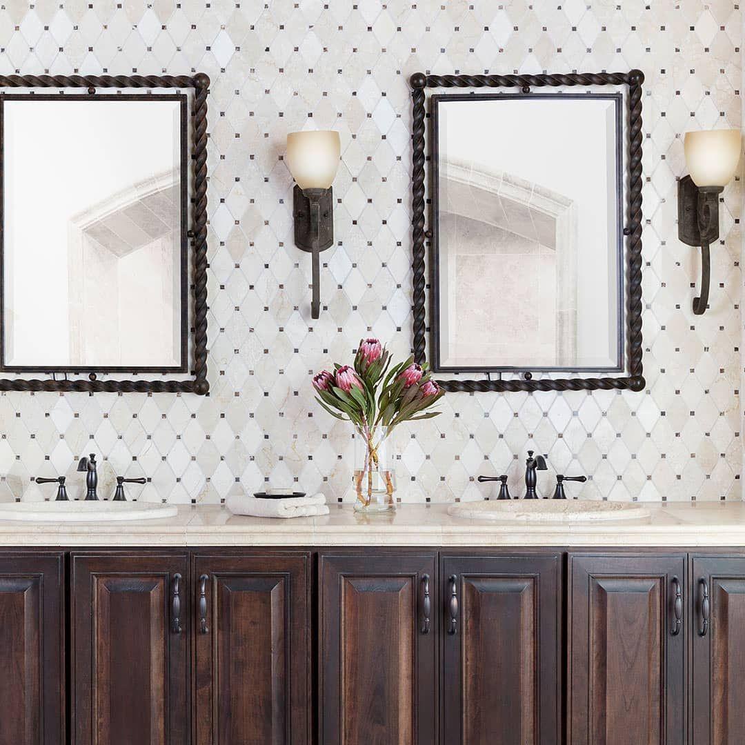 harlequin mosaic bathroom backsplash Shop the look at