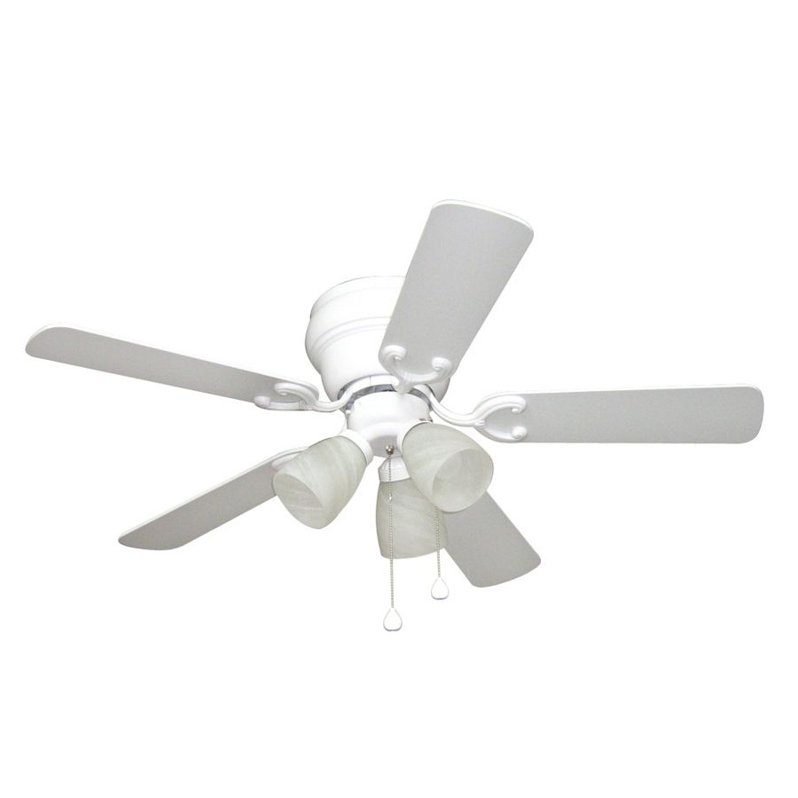 shop harbor breeze 42-in cheshire ii white ceiling fan with light