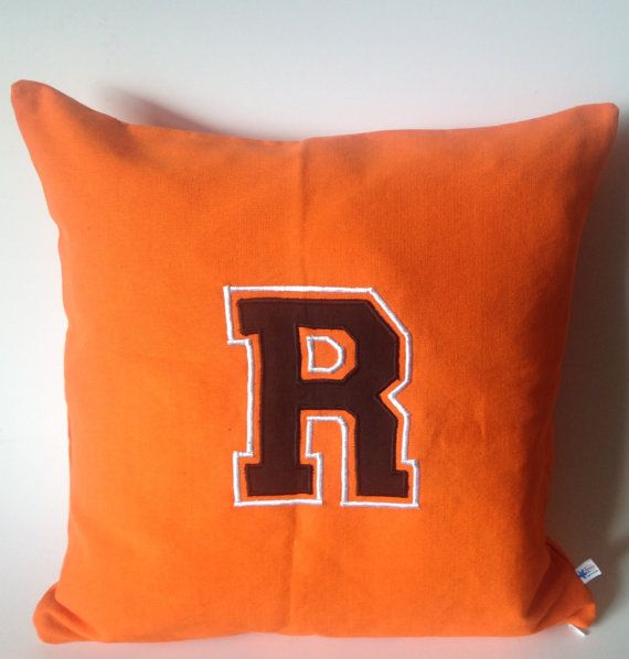 Personalized embroidered kids pillows Orange Grommet Pillows
