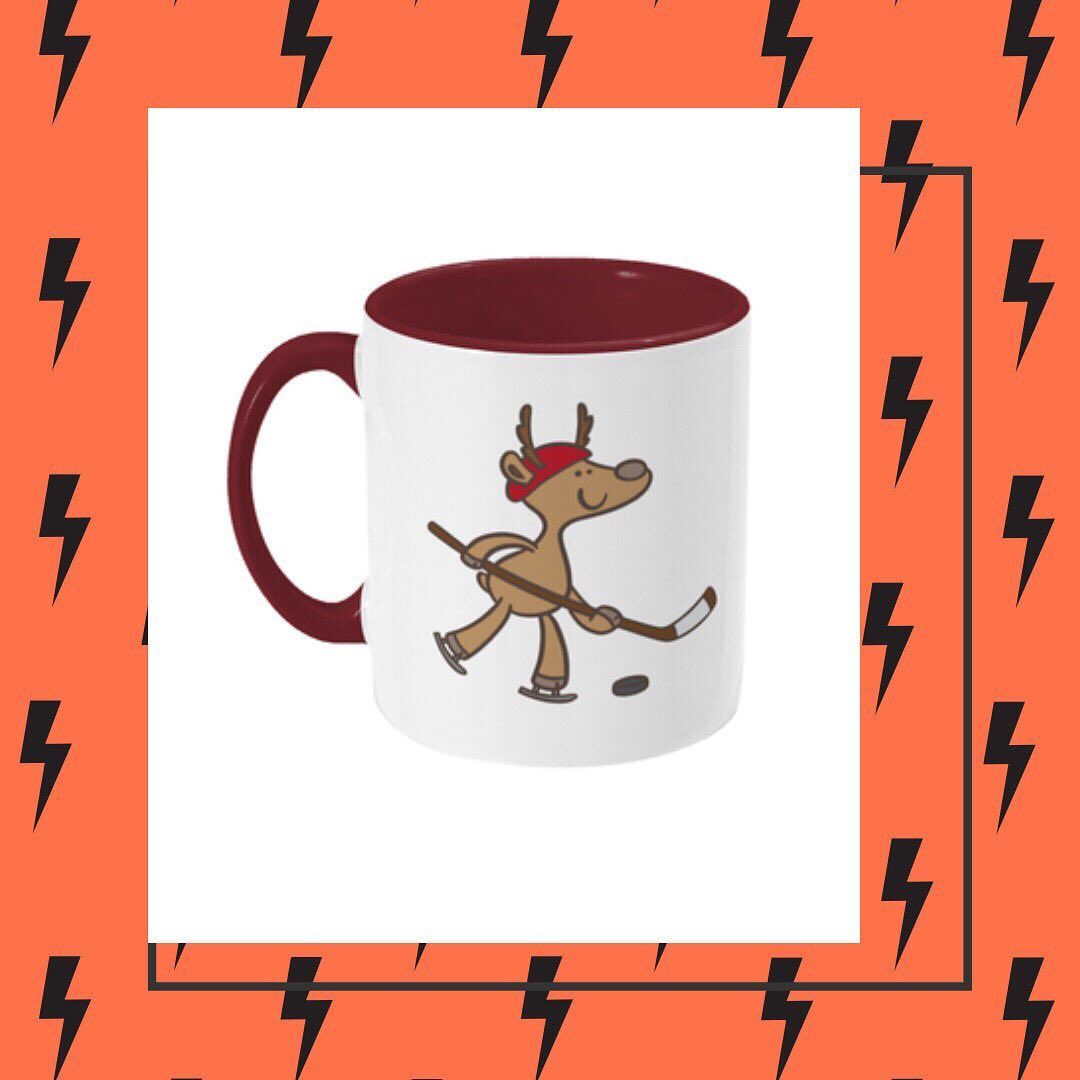 Reindeer Hockey Mug | Mugs, Reindeer, Christmas mugs