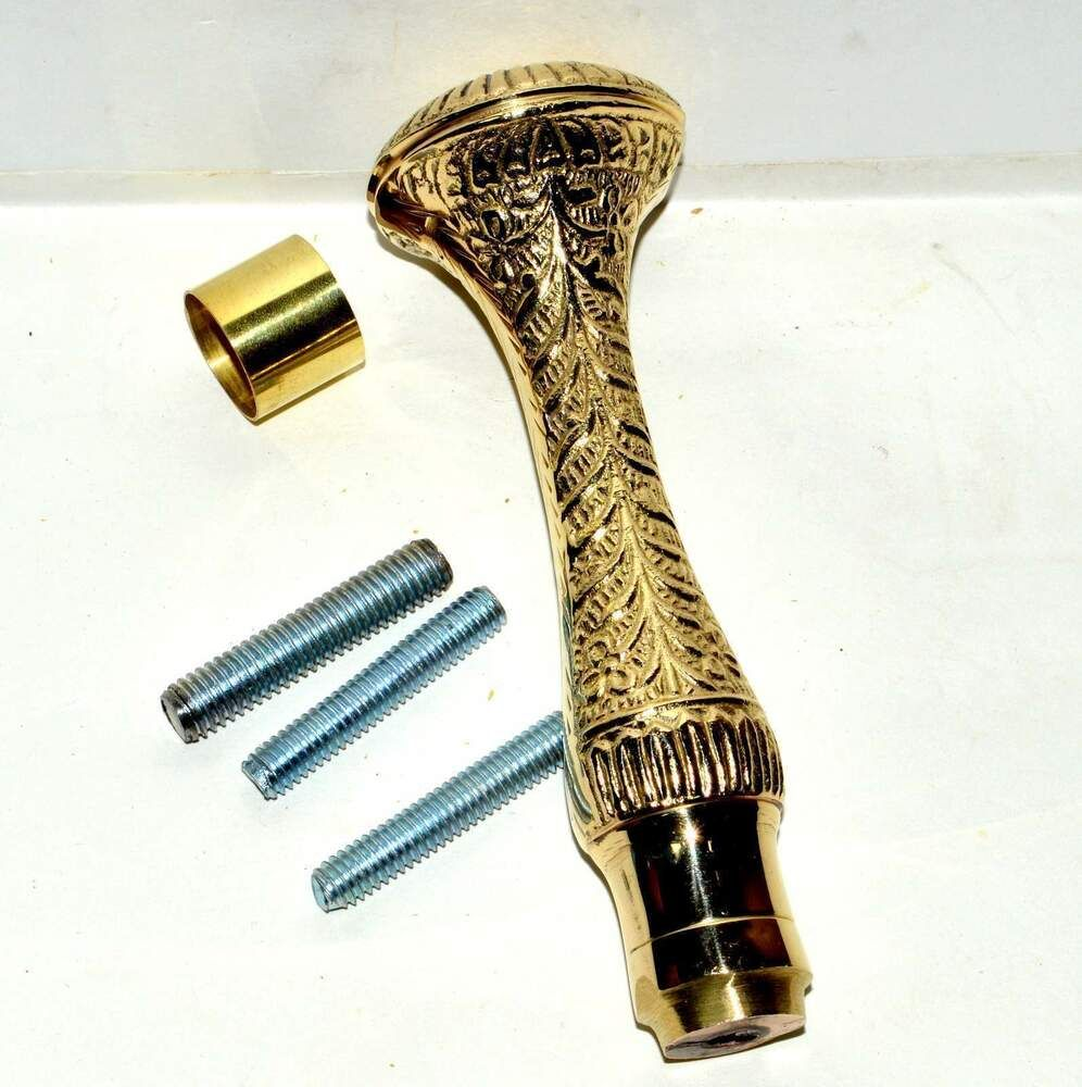 ONLY HANDLE VICTORIAN HANDLE SOLID BRASS FOR VINTAGE WALKING CANE