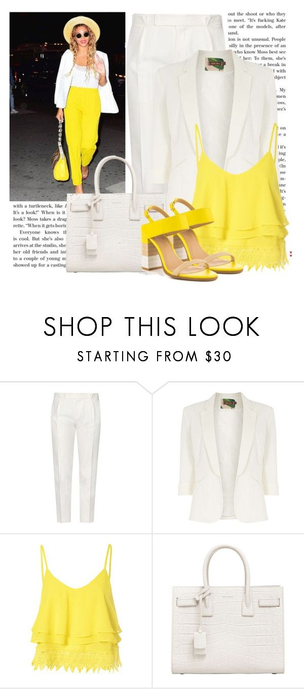"""""""Amarelo"""" by ebramos ❤ liked on Polyvore featuring Tod's, Jolie Moi, Glamorous, Yves Saint Laurent and ALDO"""
