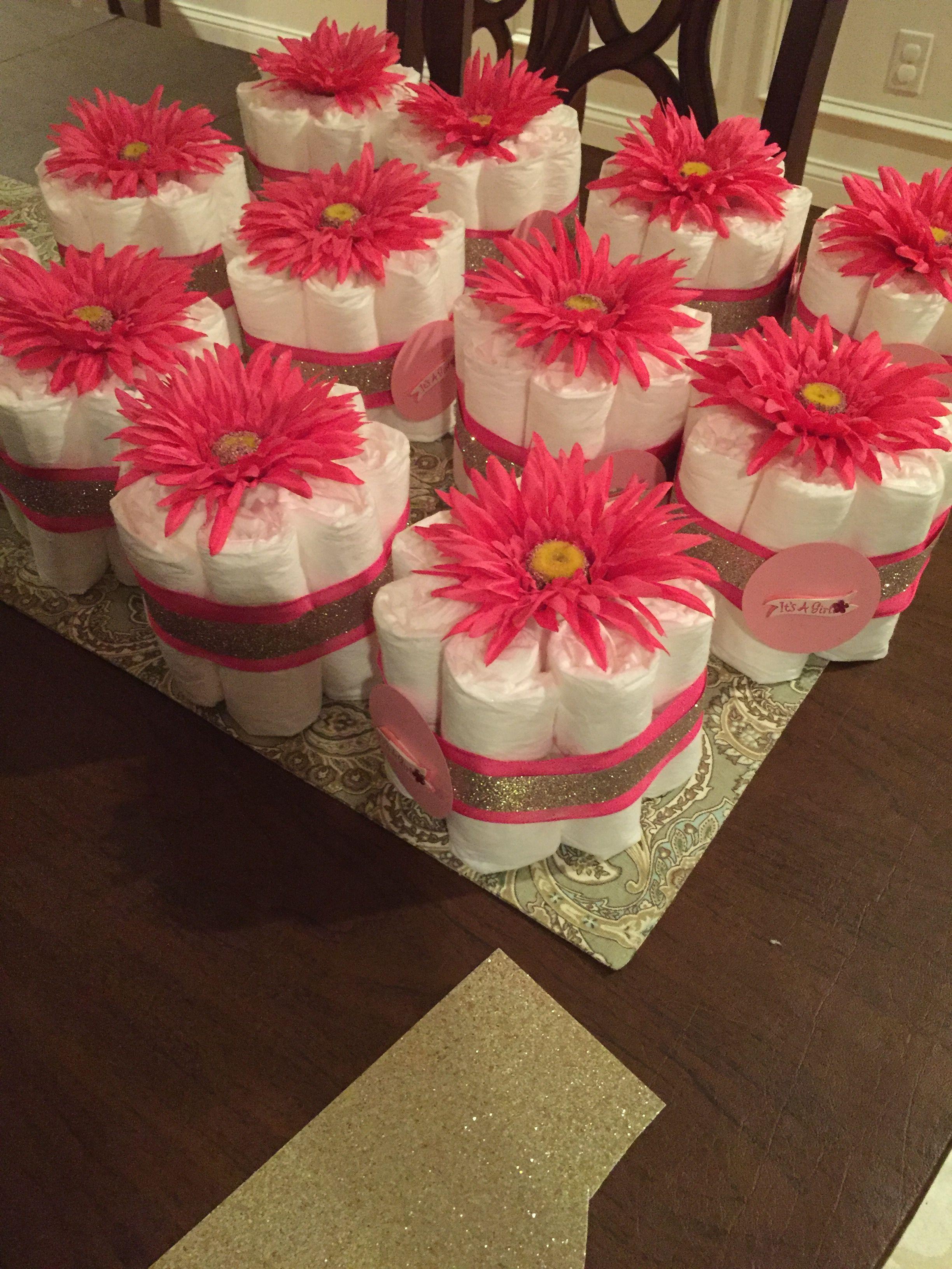 Baby Shower Mini Diaper Cakes Baby Shower Gift Bags Sprinkle