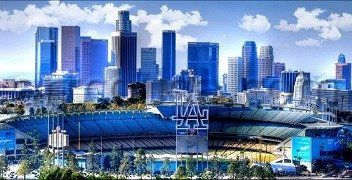 Los Angeles Dodgers Stadium Skyline Canvas Art Print This Is A Hand Crafted Piece Digitally Los Angeles Dodgers Stadium Let S Go Dodgers Los Angeles Dodgers