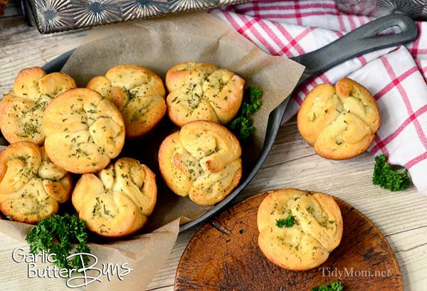 Easy Garlic Butter Buns using refrigerated biscuits