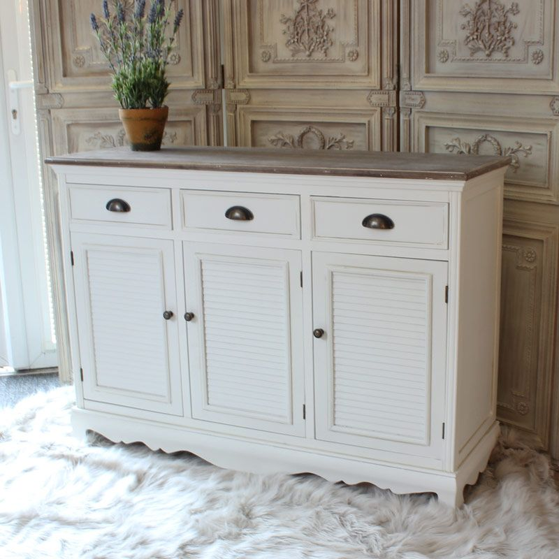Brittany Range By Melody Maison 447 White Sideboard Painted Cabinet