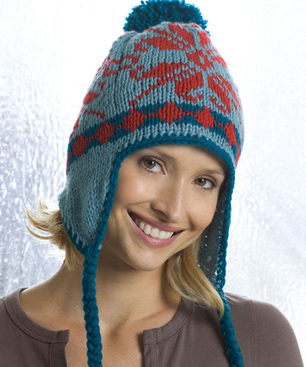Knit a hat for someoneexcept maybe not this one she looks very knitting patterns free knitting hats knit patterns free pattern pretty patterns free knitting flap has red heart yarn red hearts bankloansurffo Gallery