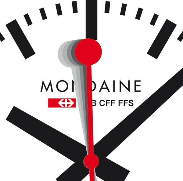 The designer clock to @mondaine_watch @sbbnews #Futura #Helvetica via @ACreativeMusing