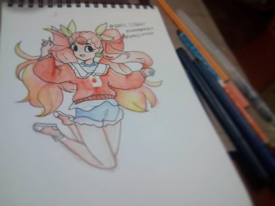 Eh bien, il y a longtemps, je n'avais pas dessiné (Challeng) de photo, alors j'ai apporté l'un des @angelmiico #orangemiik #drawthisinyourownstyle. . . . . . . . . . #art ...