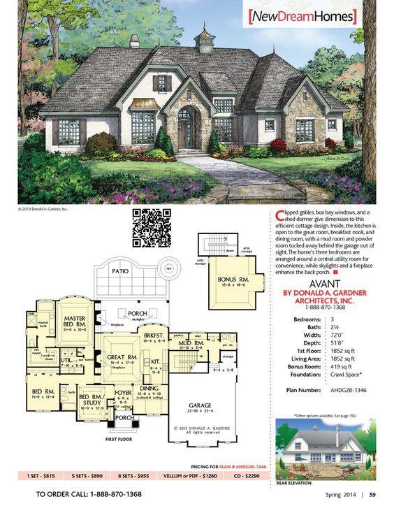 Designer Dream Homes Best Home Plans of Donald A Gardner Page 59