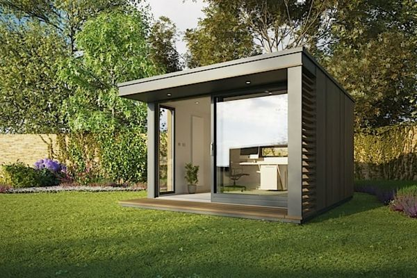 Modernes Graues Gartenhaus Garden Office, Home Office, Office Pods, Micro  House, Tiny