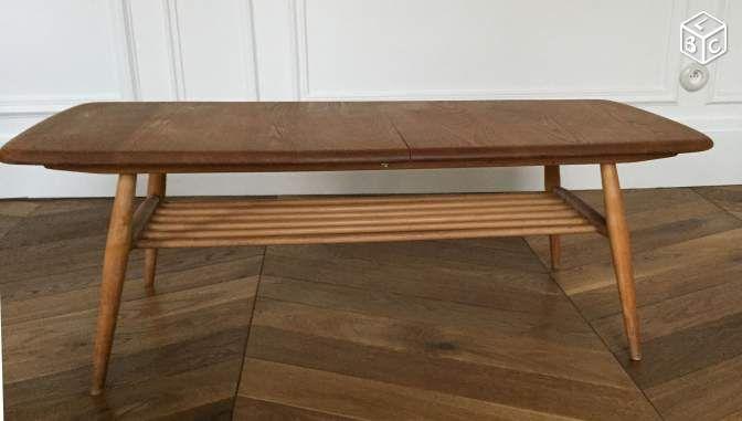 Table Basse Ercol Vintage Design Scandinave Ameublement Paris