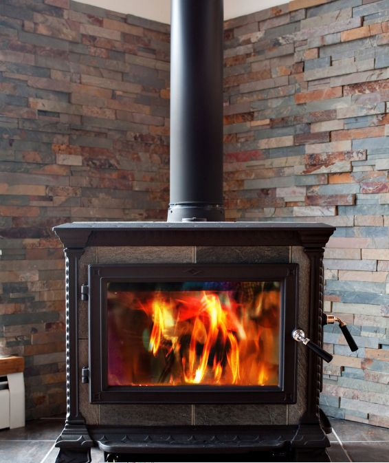 My Fireplace Doesnt Heat The Room: Replace Fireplace With Wood Burning Stove In Corner. Leave