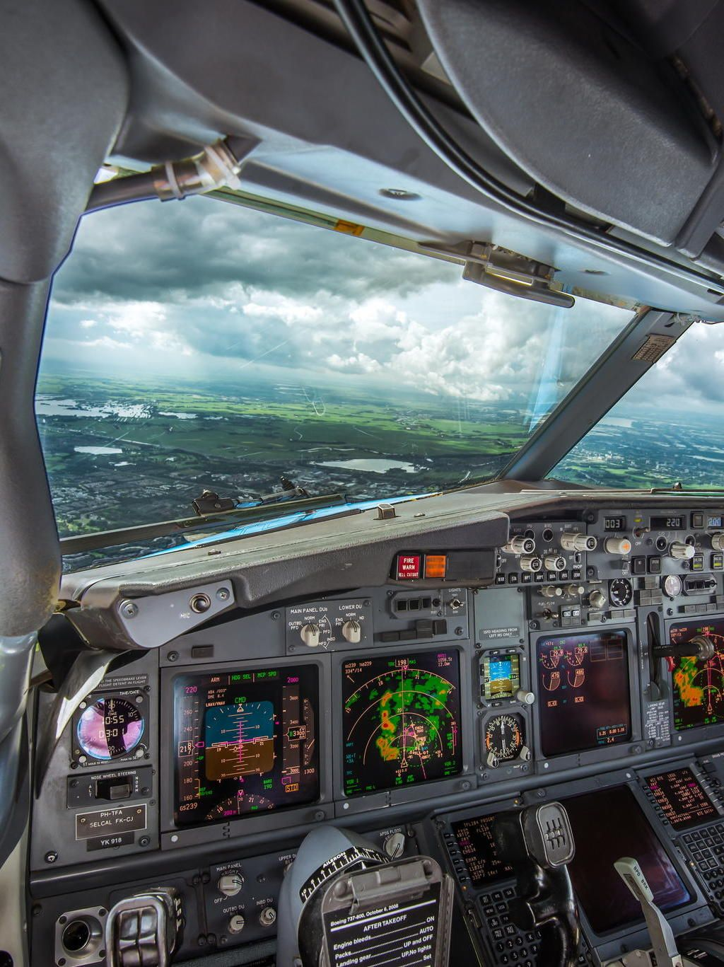Stop Dreaming Start Flying Some Storms Ahead Cockpit Boeing