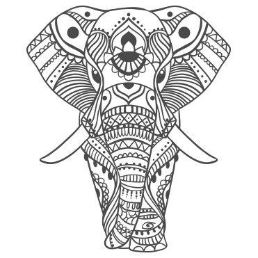 Stickers Elephant Indien Orne Dessin Pinterest Mandalas