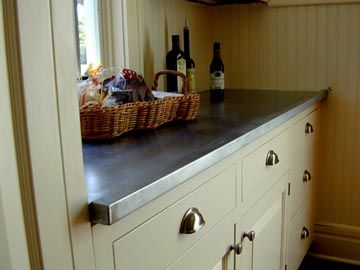 zinc top inspiration that you could make yourself using the amy howard at home zinc solution on kitchen zinc id=94626