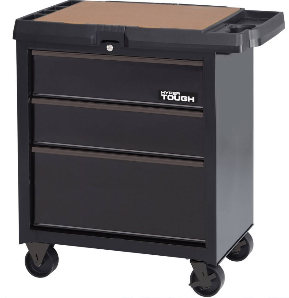 Tool Box Side Cabinet Rolling Metal On Wheels 3 Drawer Mobile Portable Chest
