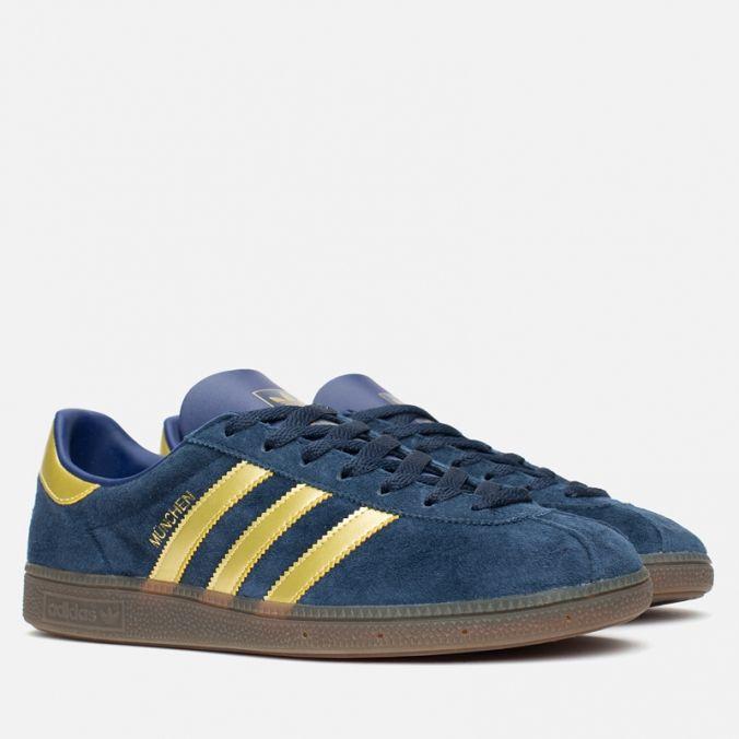 54af179ab8be Кроссовки Adidas Originals Munchen Spezial Navy Gold Sky. Article  AF5434.  Release