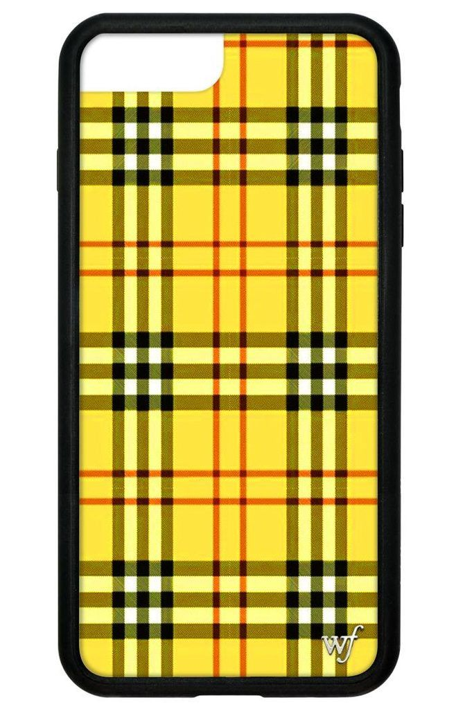 Yellow Plaid iPhone 6+/7+/8+ Plus Case Yellow iphone