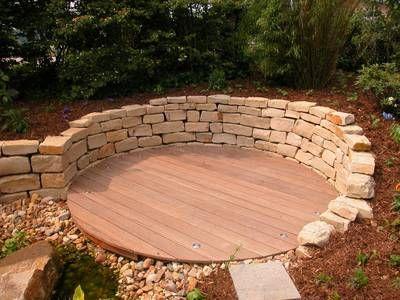 natursteinmauer kalkstein | garten - poolecke | pinterest, Best garten ideen