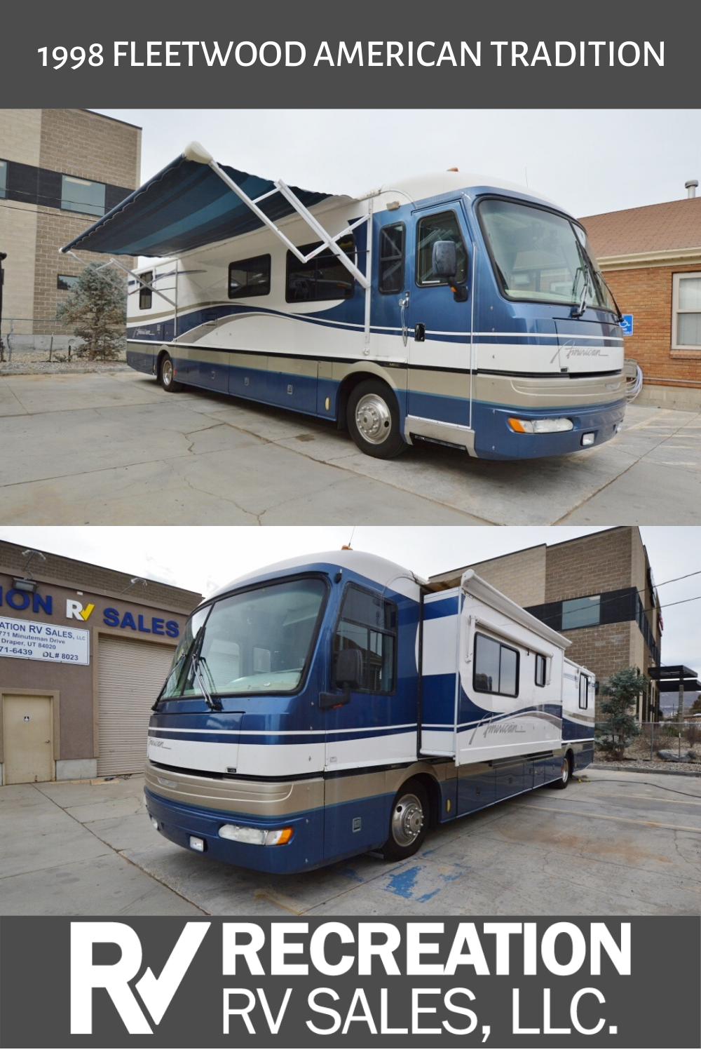 1998 Fleetwood American Tradition 40tvs Rv For Sale In 2020 Air Ride Fleetwood Cummins Diesel Engines