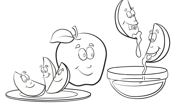 rosh hashanah colouring in pages