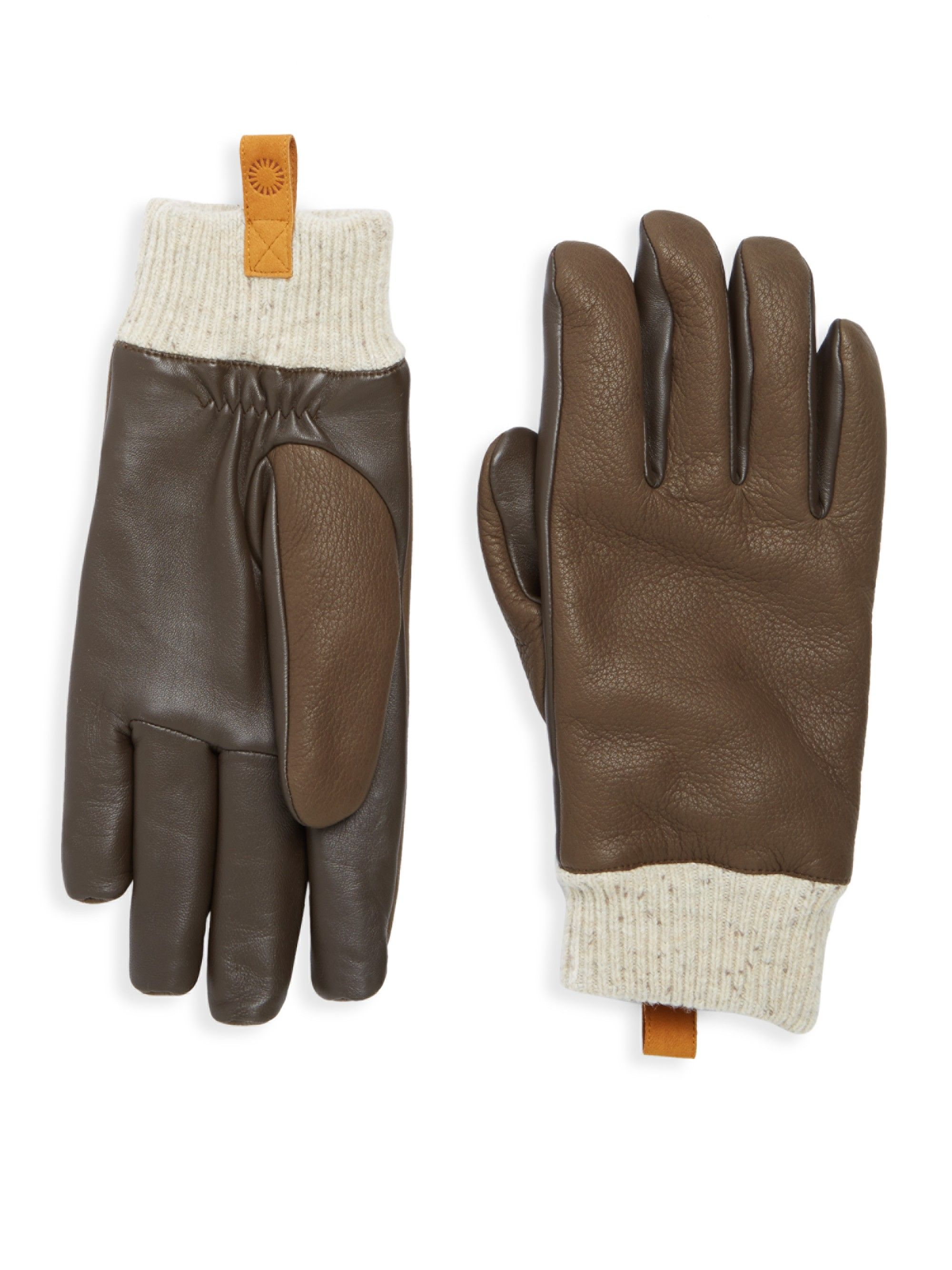 UGG Casual Leather & Shearling Smart Gloves. #ugg # | Gloves