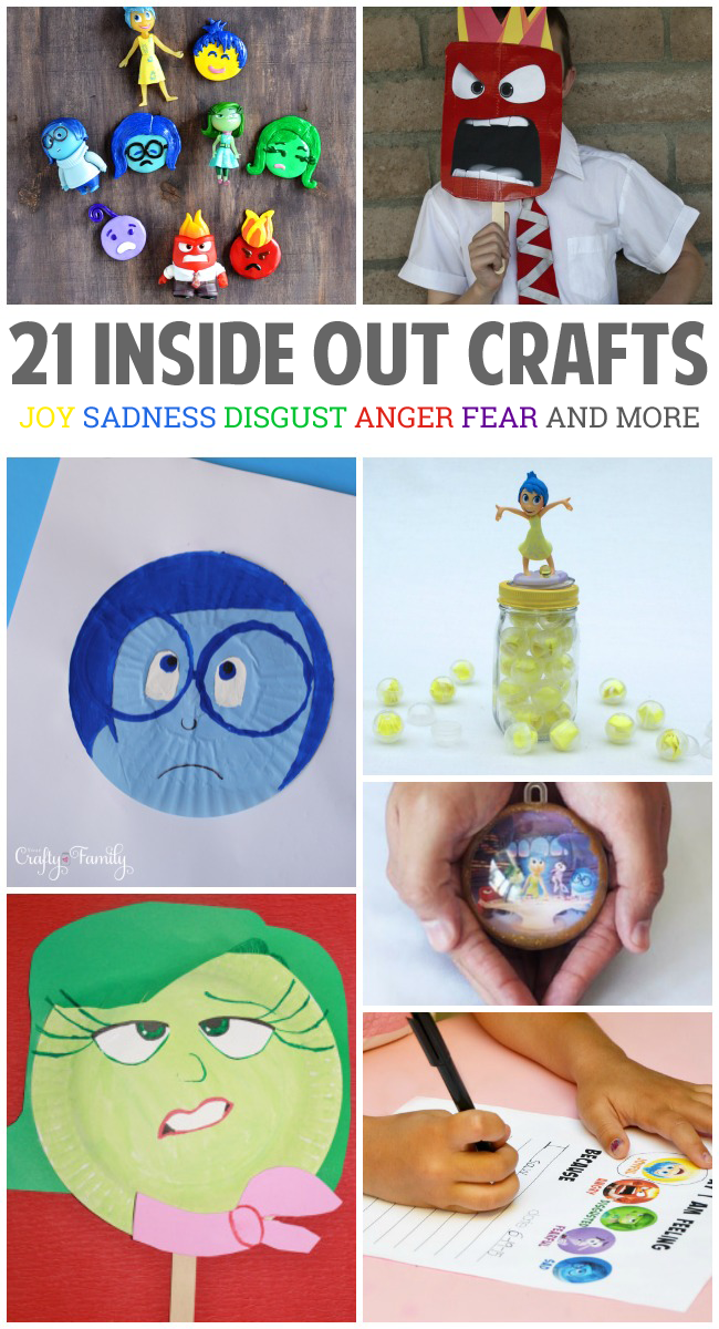 21 inside out crafts activities craft movie and craft for Emotion art projects