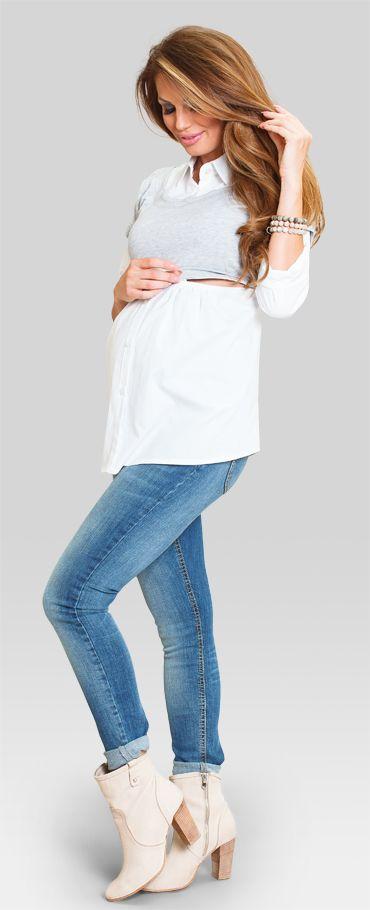 b2c38f0f1c8392 Happy mum - Maxie shirt 149 | sukienki do karmienia | Sukienki i Bawełna