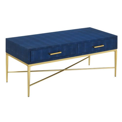 Bring your vision to life with the Ashley Coffee Table by Convenience Concepts and enjoy a cup of coffee in style. Its modern contemporary style will refresh your home decor while optimizing both storage and display space. With a spacious tabletop you will be able to enjoy a full meal while streaming your favorite TV series from the comfort of your living room. The two drawers are adorned with metallic pull handles and provide enough space to hold all your entertainment essentials. Fashioned fro