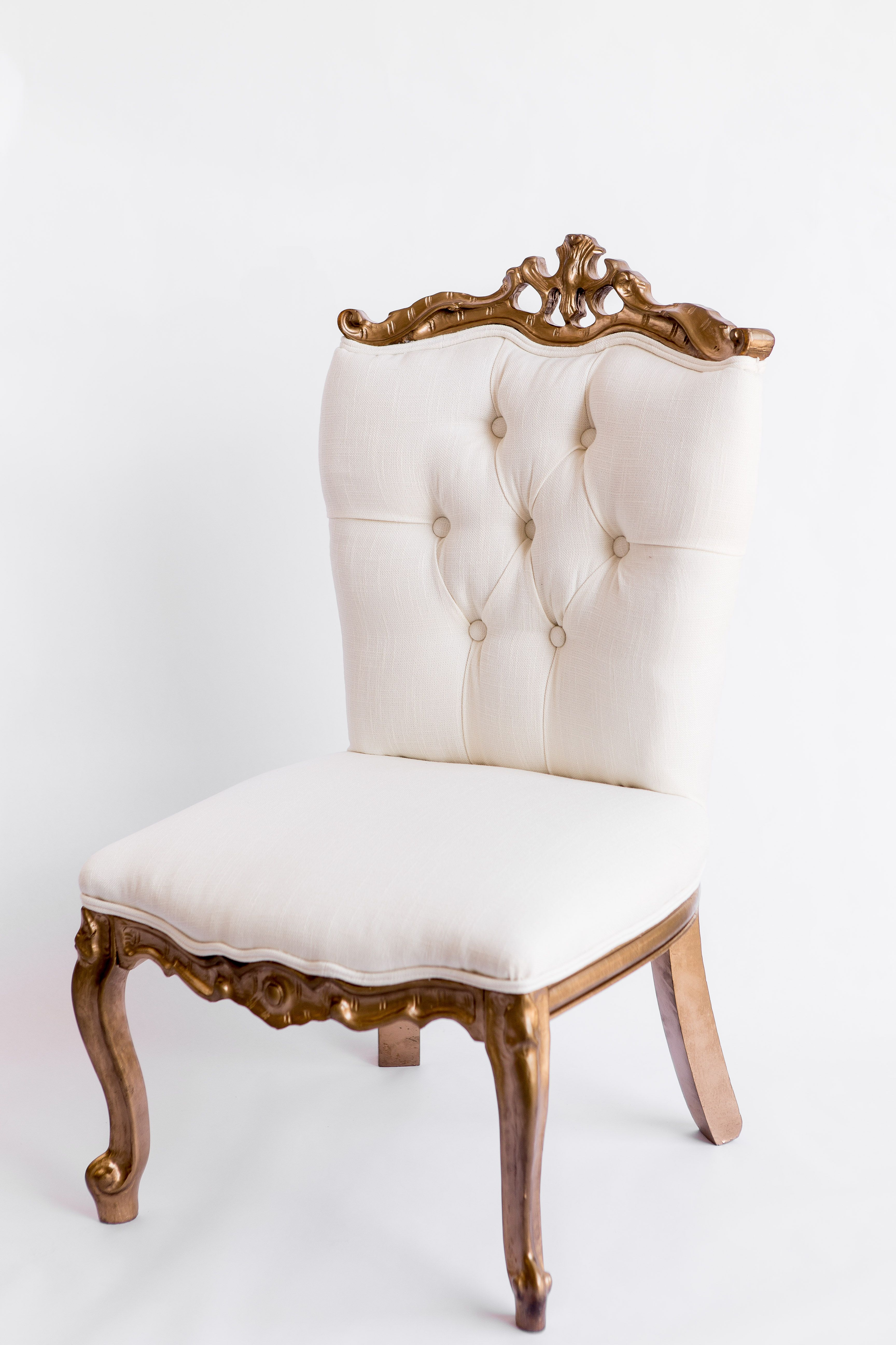 White And Gold Chair Vintage Rentals Rental Home Decor Teal Rooms Luxury Furniture
