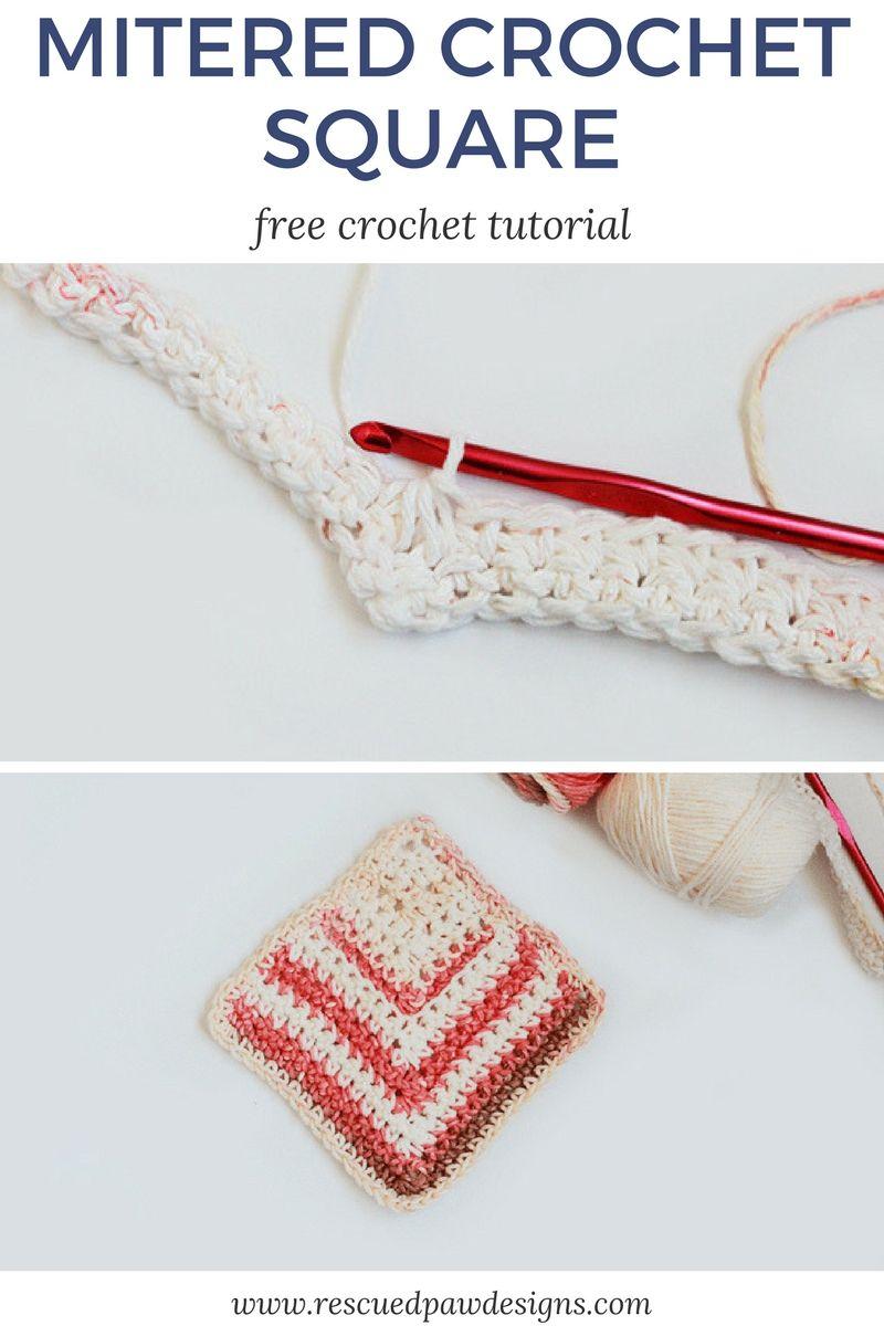 Crochet Mitered Square Pattern | crochet | Ganchillo, Tejidos