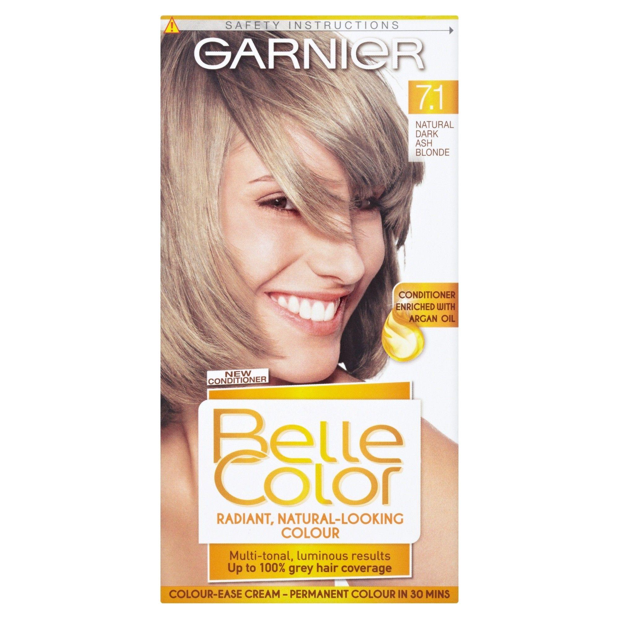 Garnier Belle Colour 7 1 Natural Dark Ash Blonde Hair Dye In 2020