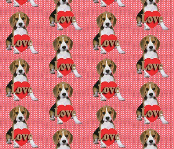Beagle Puppy Valentine S Day Fabric Puppy Valentines