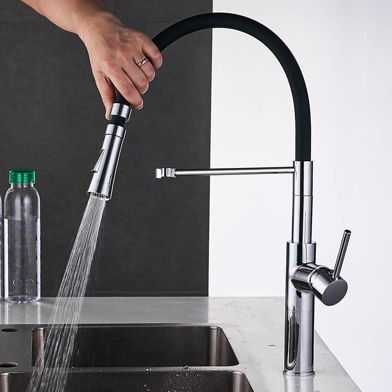 Kitchen Faucets Dual Sprayer Nozzle Torneira De Cozinha Chrome