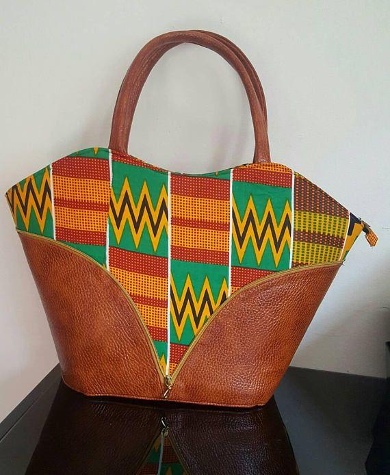Hand made African print kente ladies hobo bag  b989f360b2513