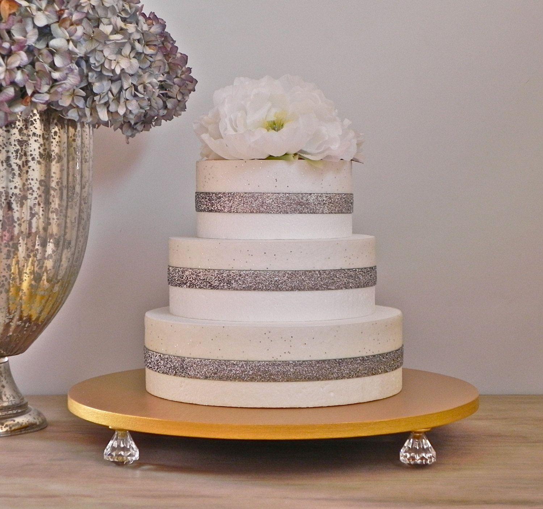 Cake Stand 16 Inch Wedding Metallic Decor