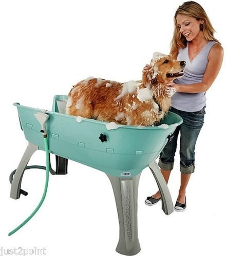 Portable Elevated Dog Bath Outdoor Pet Bathing Washer Grooming
