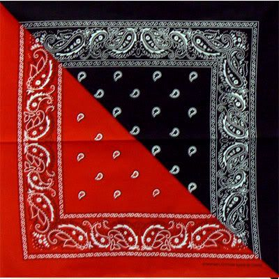 Red And Black Bandana For The Anarcho Syndicalist Make