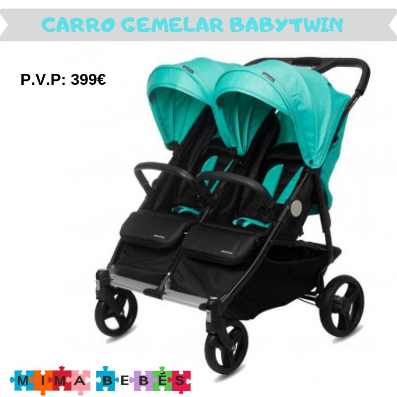 Carrito De Bebé Gemelar Babytwin De Playxtrem Carritos Gemelares Coches Para Bebes Carritos De Bebé