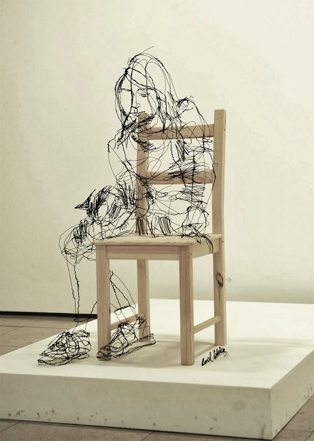 33 Amazing Diy Wire Art Ideas Sketches Sculpture And High Rh Com 2D Unique
