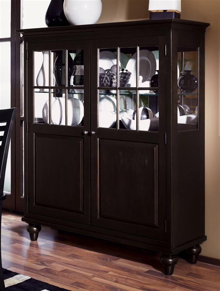 Kincaid+Furniture+ +Somerset+Display+China+Cabinet+in+Espresso+Finish