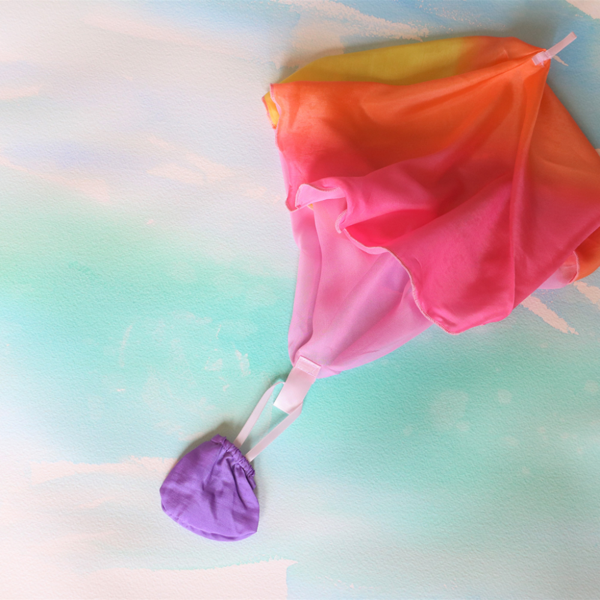 Parachute toy from Sarah's Silks is so much outdoor fun