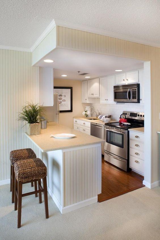 cozinha #branca pequena mas super bem planejada Decoração - decoracion zen