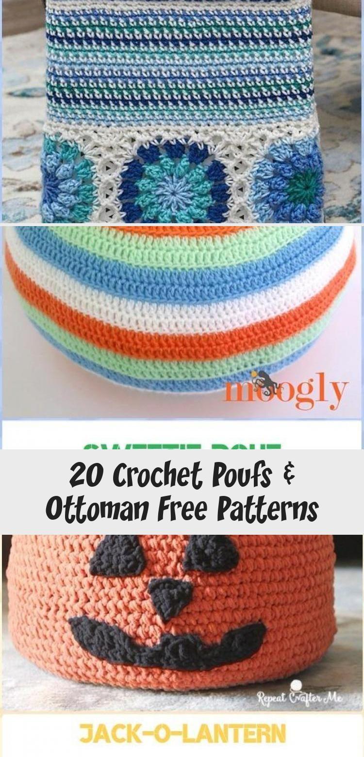 Crochet Floor Pillow Pouf Ottoman Tutorial - Crochet Poufs & Ottoman Free Patterns   crochet floor pillow